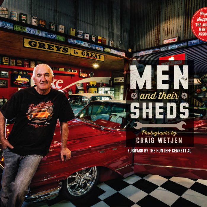 Square photo Men and Their Sheds Book Cover